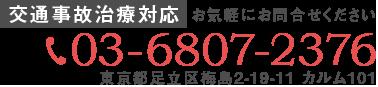 東京都足立区梅島2-19-11 カルム101 03-6807-2376